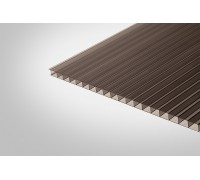 Сотовый поликарбонат КОЛИБРИ 8,0 мм 2100x6000 м серый 20%