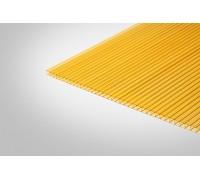 Сотовый поликарбонат КИВИ 3,70 мм 2100x6000 м желтый 70%
