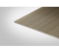 Сотовый поликарбонат Полигаль Практичный 10,0 мм 2100x12000 м бронзовый 42%