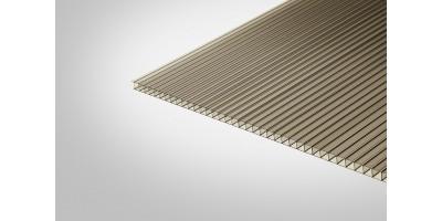 Сотовый поликарбонат Полигаль Практичный 6,0 мм 2100x6000 м бронзовый 42%