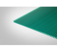 Сотовый поликарбонат Полигаль 8,0 мм 2100x6000 м зеленый 42% ГОСТ