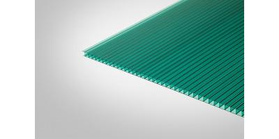 Сотовый поликарбонат Полигаль Практичный 8,0 мм 2100x6000 м зеленый 42%
