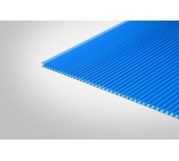 Сотовый поликарбонат КОЛИБРИ 3,70 мм 2100x12000 м синий 30%